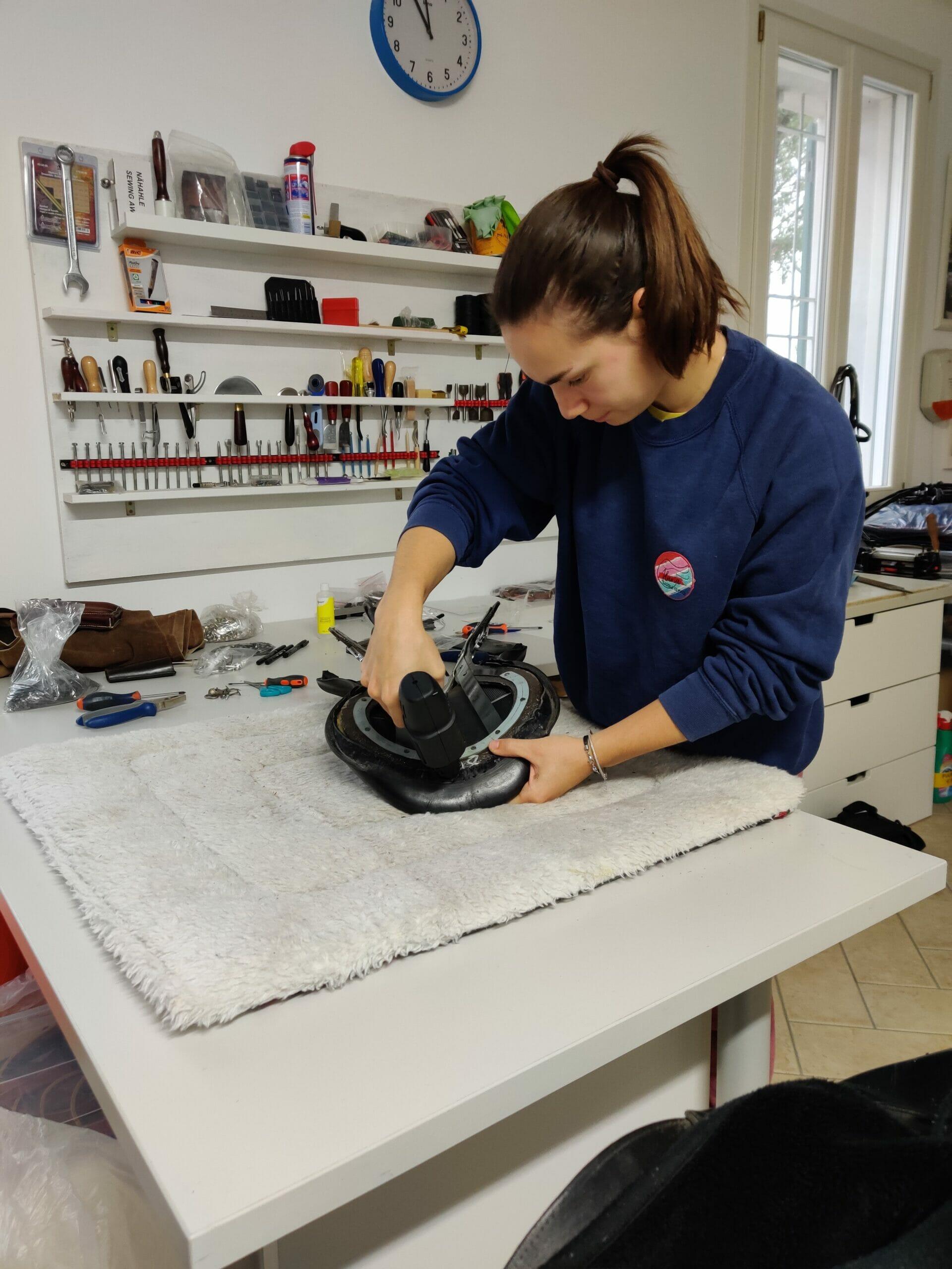 Ilaria saddle service - riparazione selle - sostituzione arcione