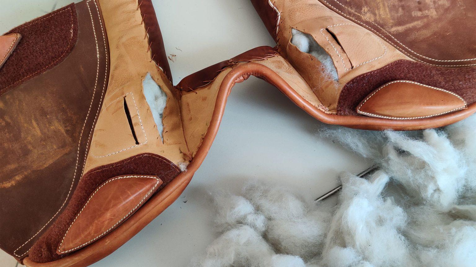 riparazione selle reimbottitura cuscini